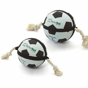 Koiran lelu Actionball jalkapallo narulla