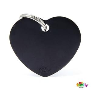 Koiran Nimilaatta kaiverruksella - EXTRA vahva Alumiini ISO sydän, musta
