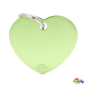 Koiran Nimilaatta kaiverruksella - EXTRA vahva Alumiini ISO sydän, vihreä