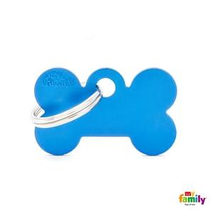 Koiran Nimilaatta kaiverruksella - EXTRA vahva Alumiini pieni luu, sininen