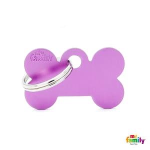 Koiran Nimilaatta kaiverruksella - EXTRA vahva Alumiini pieni luu, violetti
