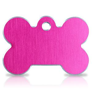 Koiran nimilaatta kaiverruksella - Hi-line Alumiini ISO luu, pinkki