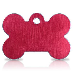 Koiran nimilaatta kaiverruksella - Hi-line Alumiini ISO luu, punainen