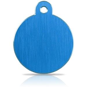 Koiran nimilaatta kaiverruksella - Hi-line Alumiini ISO ympyrä, sininen