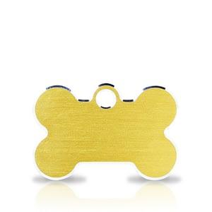 Koiran nimilaatta kaiverruksella - Hi-line Alumiini pieni luu, kulta