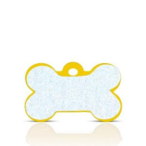 Koiran nimilaatta kaiverruksella - HEIJASTAVA hiline alumiini pieni luu, kulta