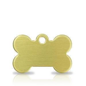 Koiran nimilaatta kaiverruksella - messinki pieni luu