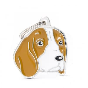 Nimilaatta kaiverruksella - koirarotu-nimilaatta beagle