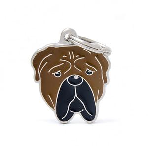 Nimilaatta kaiverruksella - koirarotu-nimilaatta bullmastiffi