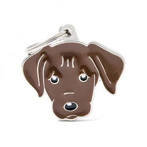 Nimilaatta kaiverruksella - koirarotu-nimilaatta labradorinnoutaja suklaa
