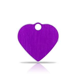 Nimilaatta kaiverruksella - Hi-line Alumiini pieni sydän, violetti