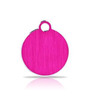 Nimilaatta kaiverruksella - Hi-line Alumiini pieni ympyrä, pinkki