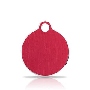 Nimilaatta kaiverruksella - Hi-line Alumiini pieni ympyrä, punainen