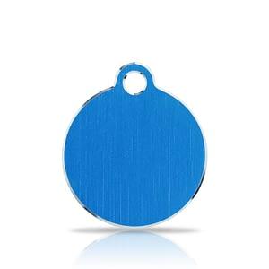 Nimilaatta kaiverruksella - Hi-line Alumiini pieni ympyrä, sininen