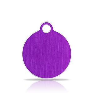 Nimilaatta kaiverruksella - Hi-line Alumiini pieni ympyrä, violetti