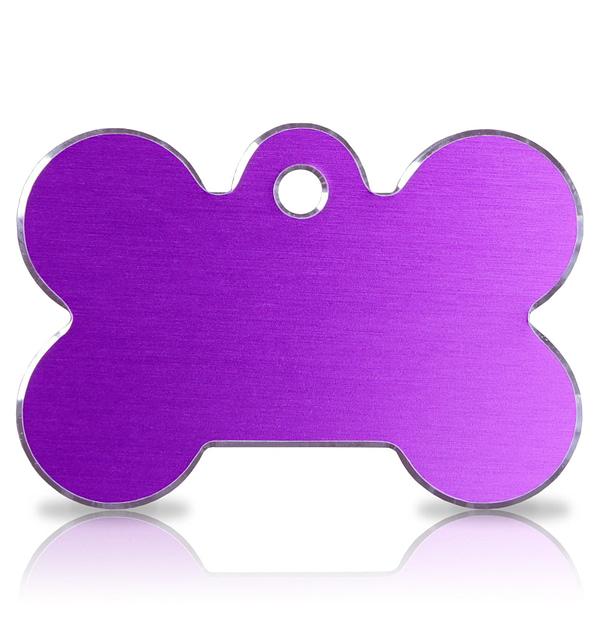 Koiran nimilaatta kaiverruksella - Hi-line Alumiini ISO luu, violetti