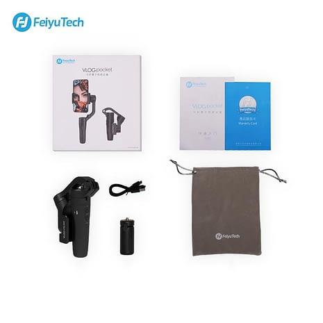 FeiyuTech VLOGpocket myyntipakkauksen sisältö